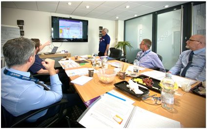 Pointing out the hazard: A scene from the IOSH Managing Safely course