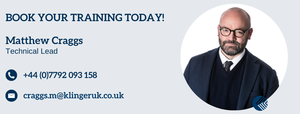 Book Your Training Now with Matthew Craggs