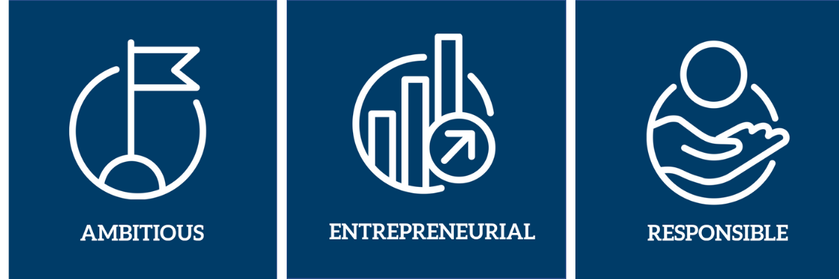 Ambitious, entrepreneurial and responsible